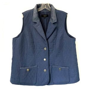 Diamond quilting blue vest